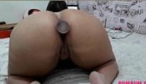 Porno de celebridades da gorda de plug anal se masturbando
